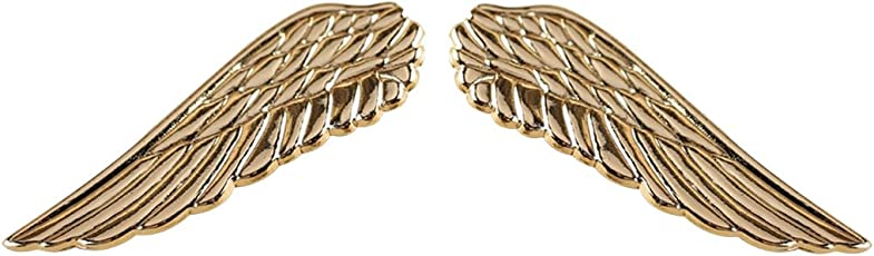 Sorella'z Unisex Golden Alloy Wings Collar Brooch