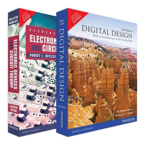 Combo of Digital Design-Mano & Electronic Devices and Circuit Theory-Boylestad for  Electical & Electronics Engineering (ECE)