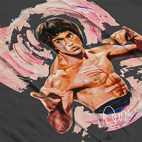 Sidney Maurer Bruce Lee Enter The Dragon Official Women's Sweatshirt Charcoal