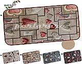 TAPPETO CUCINA moderno LOVE MULTIUSO Passatoia Cuori Lavabile in Lavatrice ANTISCIVOLO BORDATO 6 misure (cm 54 x 90, B - TORTORA)