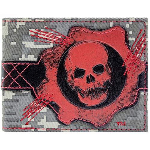 Microsoft Gears of War Cog Schädel Rot Portemonnaie Geldbörse (Einzigartige Schädel Kostüm)