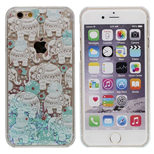 """Custodia Case per iPhone 6S Plus / 6 Plus 5.5"""", Liquido Stile Molti Love-Heart fluente / Indiano Religione Stile Stampato Modello ( il Sole ) Duro PC Trasparente Cover A4"""