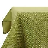 Deconovo Tovaglia Rettangolare Impermeabile in Tessuto Lino Decorazione per Sala da Pranzo 132x229cm Verde