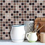 LJP Pack von 18 Stück Fliesen Aufkleber Marmor Stein Effekt Mosaik Transfers Wand Badezimmer Küche