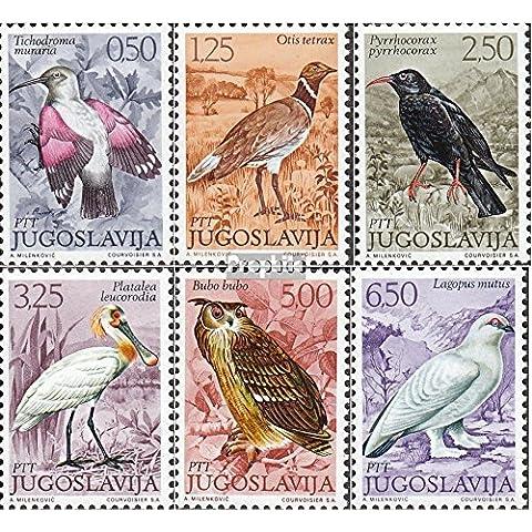 Yugoslavia 1459-1464 (completa.Problema.) 1972 Locals Uccelli (Francobolli ) - Francobolli Uccelli