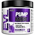 Evlution Nutrition Pump Mode (30 Serving, Furious Grape) Nitric Oxide Booster to Support Intense Pumps, Performance and Vascularity by Evlution
