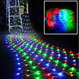 KLTO 3 M X2 MLED Luce Net, Impermeabile Esterna Vacanze Luce, Scintillanti Stelle Barriera Fotoelettrica, Prato Giardino Decorazione della Luce Color