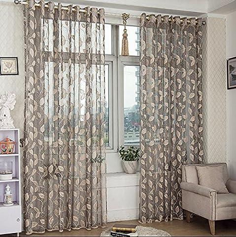 Sheer Window Vorhänge Premium Transparent Jacquard / drapieren / Tafeln / Behandlungsgröße 78.7inch * 110inch