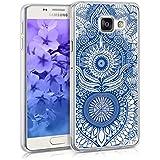 kwmobile Étui transparent en TPU silicone pour Samsung Galaxy A3 (2016) en bleu transparent Design Orient