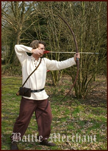Langbogen Agincourt 58 Zoll, dunkelbraun, inkl. Sehne – 15 – 40 lbs – Mittelalter – LARP – Wikinger Bogen Größe 40 lbs - 2