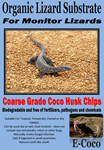 E-Coco Products UK MONITOR LIZARD SUBSTRATE, BEDDING FOR MONITOR LIZARDS ENCLOSURE, VIVARIUM (5 LITRES) 1