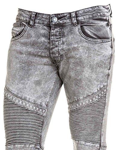 BLZ jeans - Jeans street gris nervuré délavé Gris