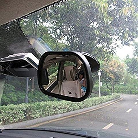EarthSafe® Car bambino Specchio, Sedile posteriore posteriore-rivestimento a specchio del bambino del bambino di sicurezza Specchio con ventosa - Auto Per Bambini View Mirror