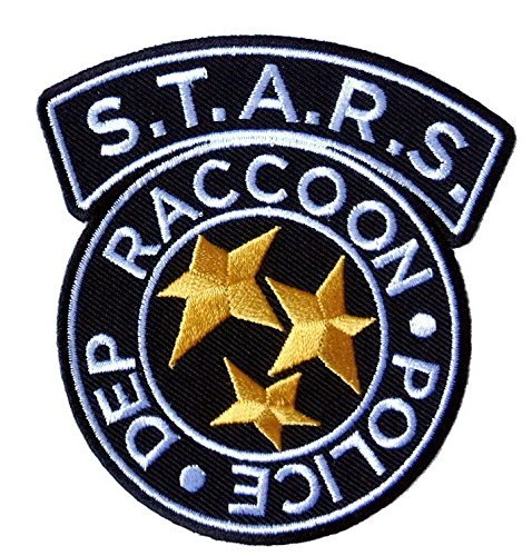 nt Evil S.T.A.R.S. Raccoon Police Logo Costume Cosplay Patch Chest Tag Costume Cosplay Tactical Patch Klettband Taktishe Aufnäher Von Titan One Europe (Costume Beret)
