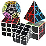 COOJA Cube Pack 2x2 + 3x3 + Pyraminx + Megaminx + Mirror Cube, Cubo...