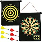 Magnetic Safety Dart Board Game Double Sided 2 in 1 - 15 inch
