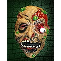 Halloween Droopy Eye Zombie Rubber Latex Full Head Scary Mask Adult by Scream Machine