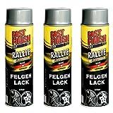 Motip Dupli - Fast Finish Felgenlack silber Autolack Rallye Spraydose 500ml 3 Stück