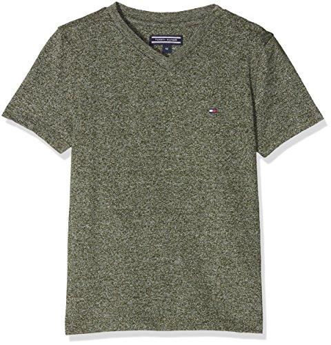 Tommy Hilfiger Jungen T-Shirt Ame Basic Jaspe VN Tee S/S, Grün (Thyme 381), 152 (Herstellergröße: 12) (Tommy Hilfiger Kinder)