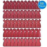 AUSTOR 50 Pezzi Fogli Abrasivi per Levigatrice Mouse 10x 40/ 60/ 80/ 120/ 240 fiocchi d'avena per...