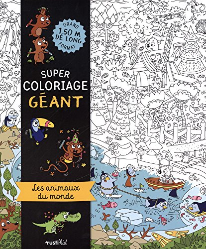 Super coloriage géant : les animaux du monde