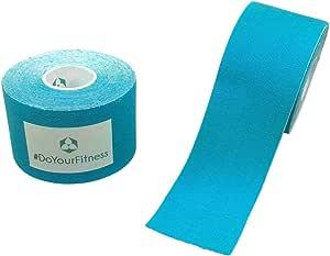 #DoYourFitness x World Fitness Kinesiologie Tapes - Lange Tragezeit - elastische Bandage für Sport - Selbstklebend, 100% gewebte Baumwolle, Wasserresistent - in verschiedenen Farben und Größen