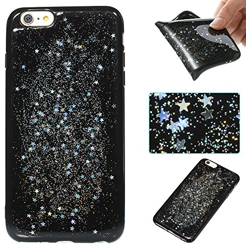 Custodia iphone 6 Plus/6s Plus, iphone 6 Plus/6s Plus Cover, iphone 6 Plus/6s Plus Custodia Silicone,Cozy Hut Case Cover per iphone 6 Plus/6s Plus, Shiny Sparkly Bling Bling Glitter Conchiglia Caso Gu Cielo dargento