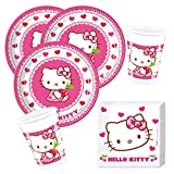 36- teiliges Party-Set Hello Kitty Teller Becher Servietten für 8 Kinder