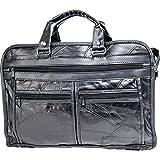 Maxam Bclbc Italian Mosaic Design Leather Briefcase