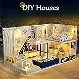 DIY Puppenhaus kleines Holzhaus Geburtstagsgeschenk DIY House mit Licht als