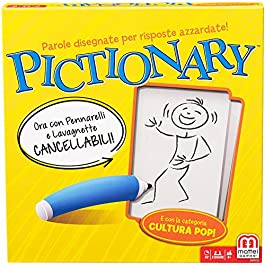 Mattel Games, Pictionary, Gioco in Scatola per Famiglie, Lingua Italiana, DPR76, 8 anni +