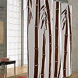 Qingv Impermeable Mildewproof baño ducha cortina cortina de bambú marrón puerta Curtainl,150*180 cm