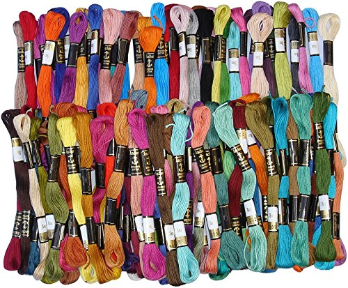 100 Anchor Solid Stitch Sewing Skeins Cotton Embroidery Thread Floss 100 shades by ANCHOR -