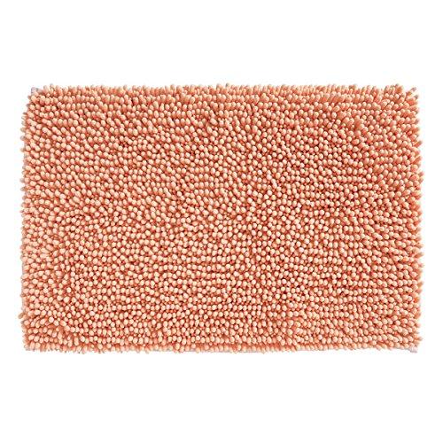 mDesign pflegeleichter Badteppich - rutschfester Mikrofaser Badvorleger sehr weich - schnelltrocknende und saugstarke Badmatte (BHT: 76,0 x 51,0 x 2,0 cm) - koralle (Koralle Badewanne)