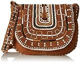 Antik Batik Otto1bag, Damen Schultertasche, Braun - Braun (Brown) - Größe: Einheitsgröße