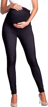 Zeta Ville - Leggings prémaman Effetto Jeans con Cintura Elastica - Donna - 948c