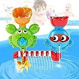 fiouni Baby Badeset Set Interaktive Wasserfall Wasser Station Badewanne Spielzeug mit Saugnäpfen für Kinder ab 18 Monaten