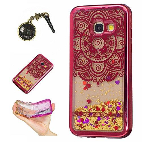 Preisvergleich Produktbild Laoke für Samsung Galaxy A3 (2017) Hülle Schutzhülle Handy TPU Silikon Hülle Case Cover Durchsichtig Gel Tasche Bumper ( + Stöpsel Staubschutz) (9)