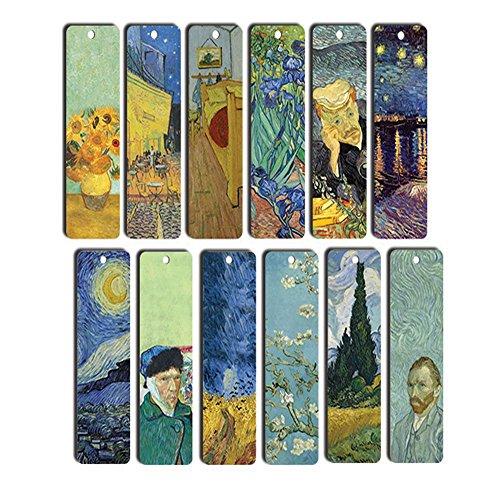 Segnalibri Van Gogh, confezione da 12, segnalibri da libro fantastici, segnalibri meravigliosi per uomo, donna, ragazzi, ragazze, adolescenti e bambini