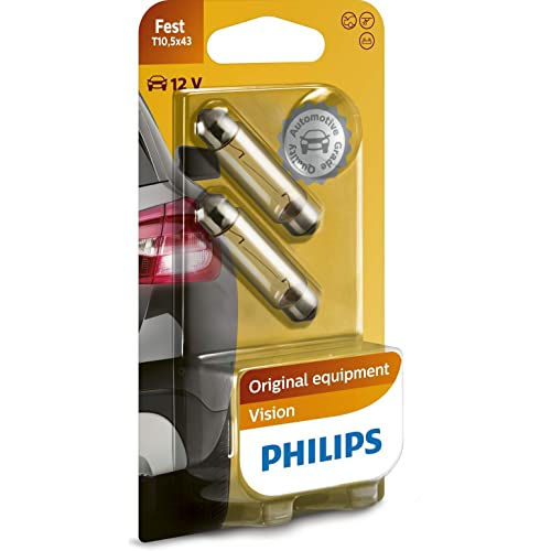 Philips automotive lighting 871150005552 Philips 12866B2-Faestoon T10,5X43, Taglia unica