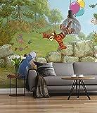 'Sunny Decor Papier peint photo'Winnie l'ourson Ballooning, 1pièce, multicolore, sd460