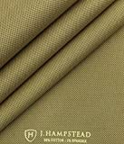 J.hampstead by Siyaram's Fawn Beige 98% Cotton Printed Stretchable Trouser Fabric (Unstitched - 1.30 Mtr)