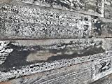 """Smart Paneling 11338 5"""" Reclaimed 3D Barn Wall Plank Country Wood (10 sq. ft./Case), Whitewash"""