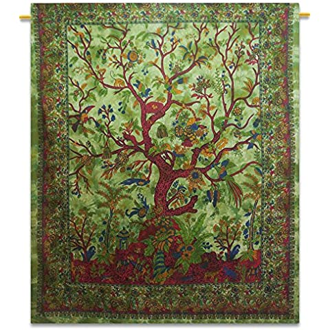 Tree Of Life Arazzo Arazzo indiano Cotone