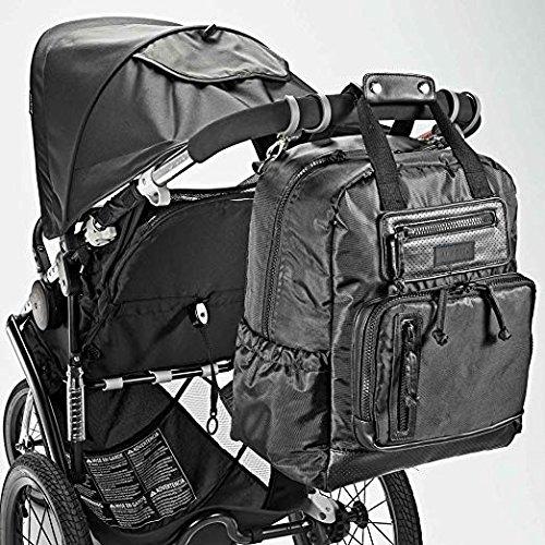 JJ Cole Infant Baby Papago Pack Men's Diaper Bag Backpack Blackout Black