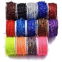 10/ 15 Bobinas de Chenilles de Colores Múltiples para Pesca con Mosca Materiales de Mosca Pesca (15 Bobinas)