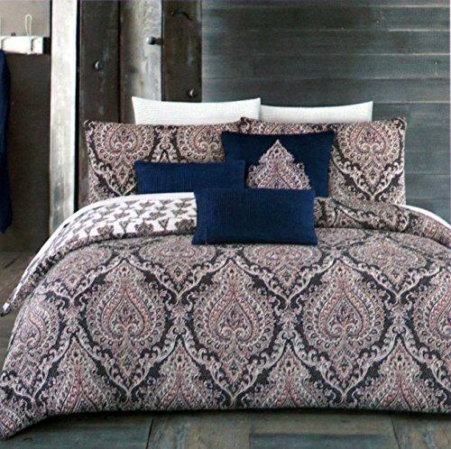 Bettbezug Set Boho Blumen Medaillon Muster Full/Queen Size Chelsea Bettwäsche 3Stück Classic Oriental Exotic Medallions rot blau beige weiß - Queen-size-standard-tröster