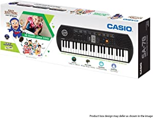 Casio SA78 Mini Portable Keyboard+Adapter With Free Ninja Hattori Stationery Box