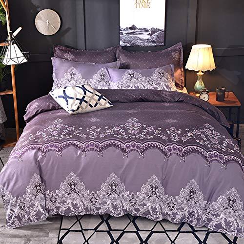 Lace Solid Color Bettwäsche Set 3 Stück Bettbezug Set Kissenbezüge Bettlaken Bettwäsche Tröster Bettwäsche-Sets Bettwäsche lila 220x240cm -