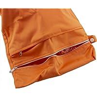 caseroxx Windeltasche/Wet Bag/Wickel Tasche mit Reißverschluss Premium 2-Pocket, Baby Strand- Badetasche Aprikose
